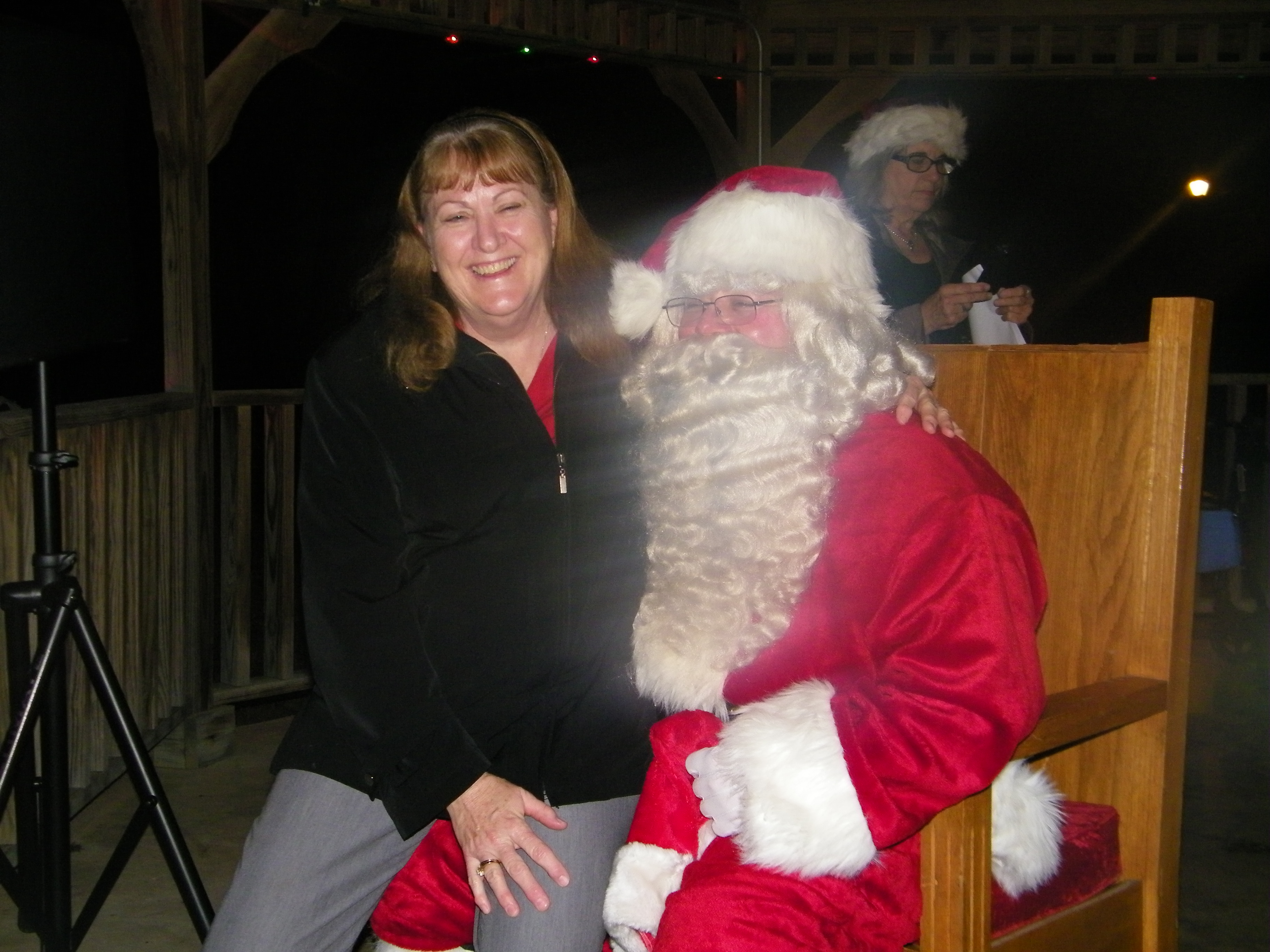 Santa and Sharon Jungman